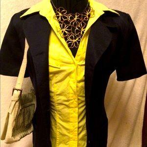🔥2/$50🔥🦋Vintage Mia🦋Short Sleeve Navy  Blazer